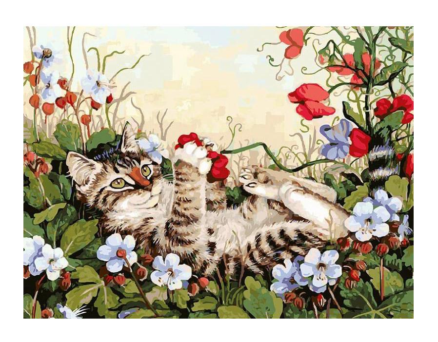 Картина по номерам Белоснежка Кошкины забавы 103-AS картина по номерам белоснежка птичка на заборе 313 as