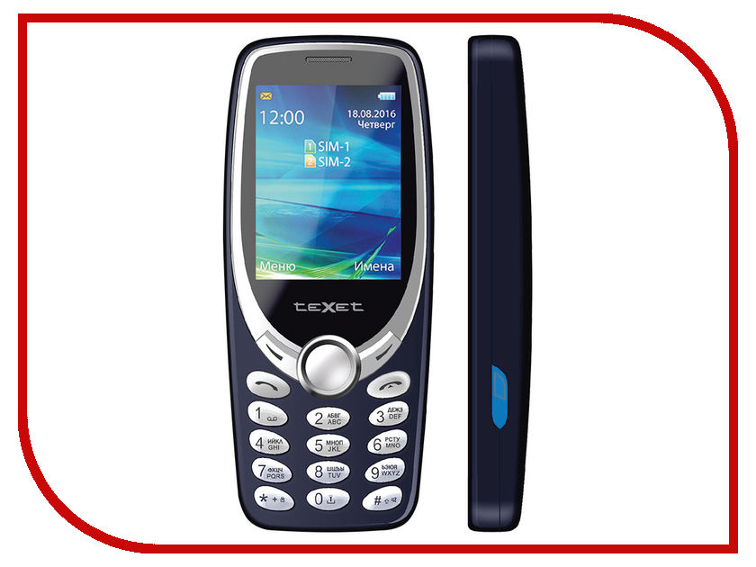 Сотовый телефон teXet TM-303 Blue чехол книжка muvit mfx folio case для sony xperia xa белый seeaf0045