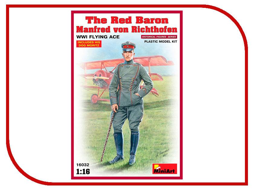 Сборная модель MiniArt Красный Барон Манфред фон Рихтгофен Летчик-ас Первой Мировой Войны 16032М сборная модель miniart уличные аксессуары 35530м