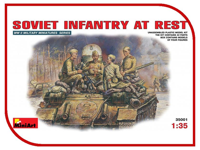 Сборная модель MiniArt Советская пехота на отдыхе 35001М