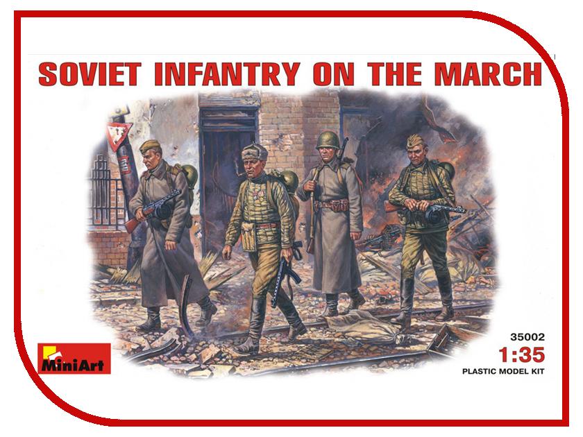 Сборная модель MiniArt Советская пехота на марше 35002М сборная модель miniart уличные аксессуары 35530м