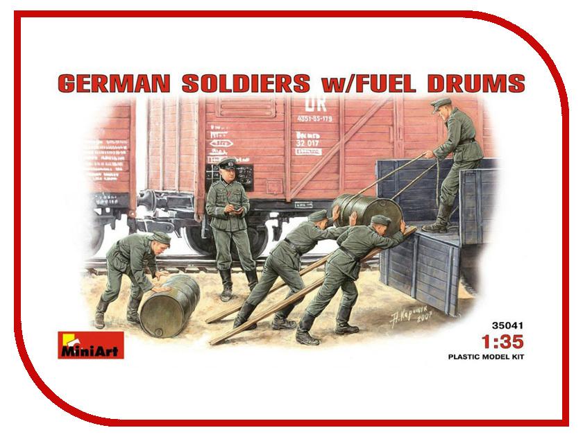 Сборная модель MiniArt Немецкие солдаты с топливными бочками 35041М немецкие карнизы где можно