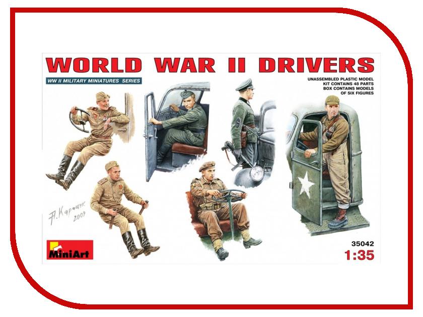 Сборная модель MiniArt Водители ВОВ 35042М солдатики вов купить