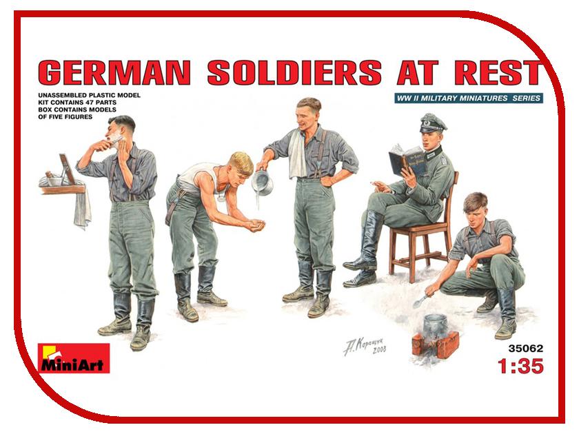 Сборная модель MiniArt Немецкие солдаты на отдыхе 35062М немецкие карнизы где можно
