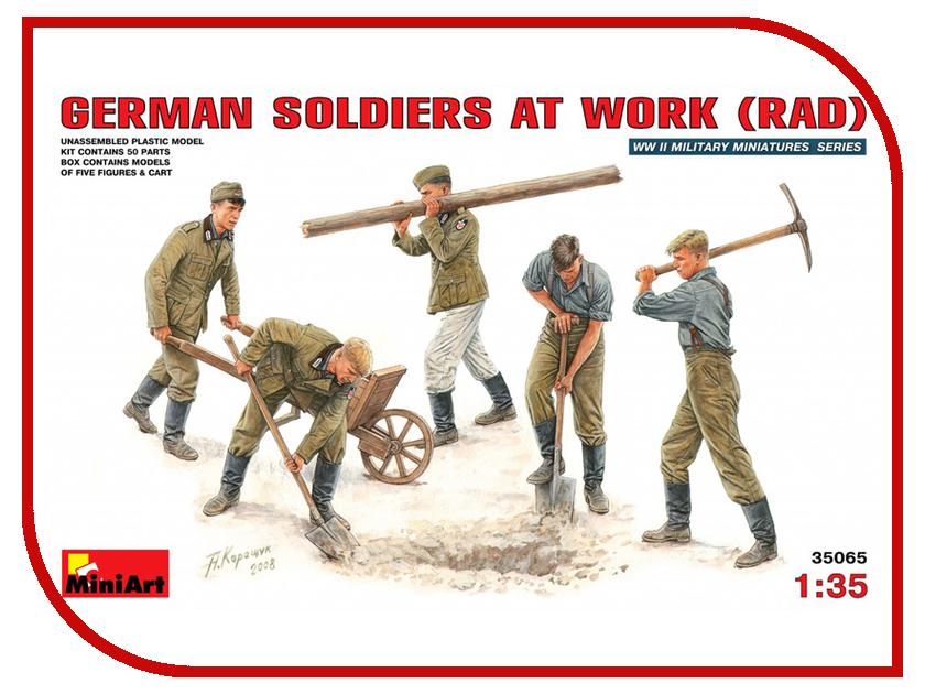 Сборная модель MiniArt Немецкие солдаты на работе 35065М немецкие карнизы где можно
