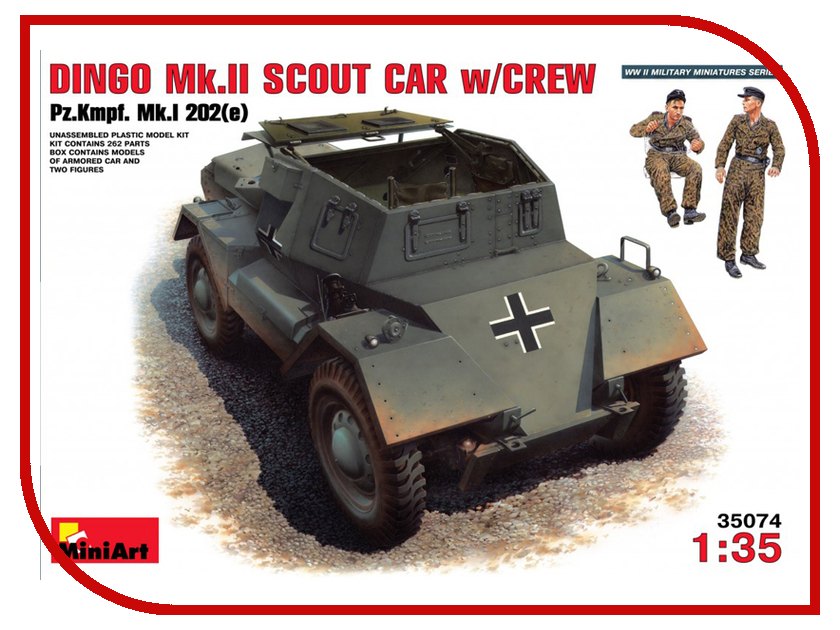 Сборная модель MiniArt Динго Мк II с экипажем Pz.Kmpf.Mk 1 202e 35074М алкотестер динго с 08 blue