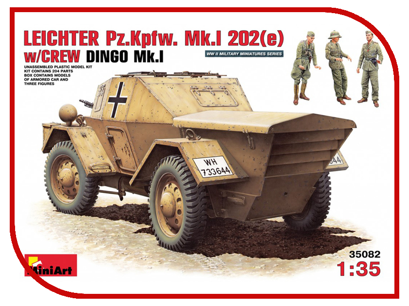 Сборная модель MiniArt Немецкий бронеавтомобиль MK I 202e 35082М