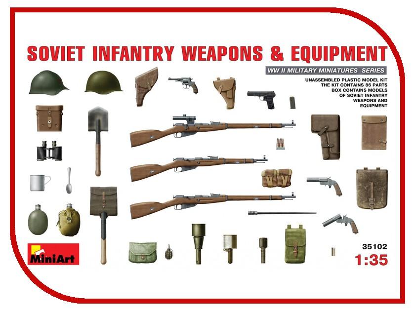 цена на Сборная модель MiniArt Советское Пехотное Оружие и Амуниция 35102М