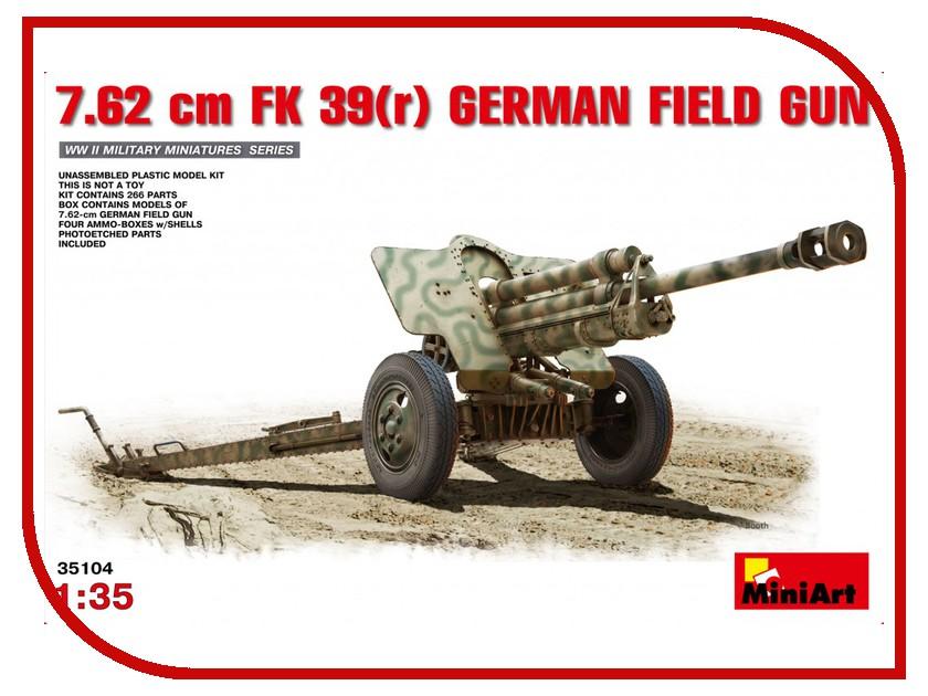 Сборная модель MiniArt Немецкая Полевая Пушка 7.62см 35104М полевая фракция удобрения ава купить
