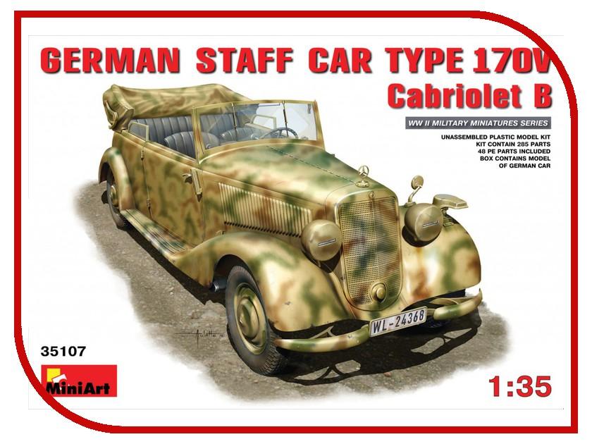Сборная модель MiniArt Штабная машина МБ тип 170V Кабриолет 35107М машина кабриолет шейх нордпласт