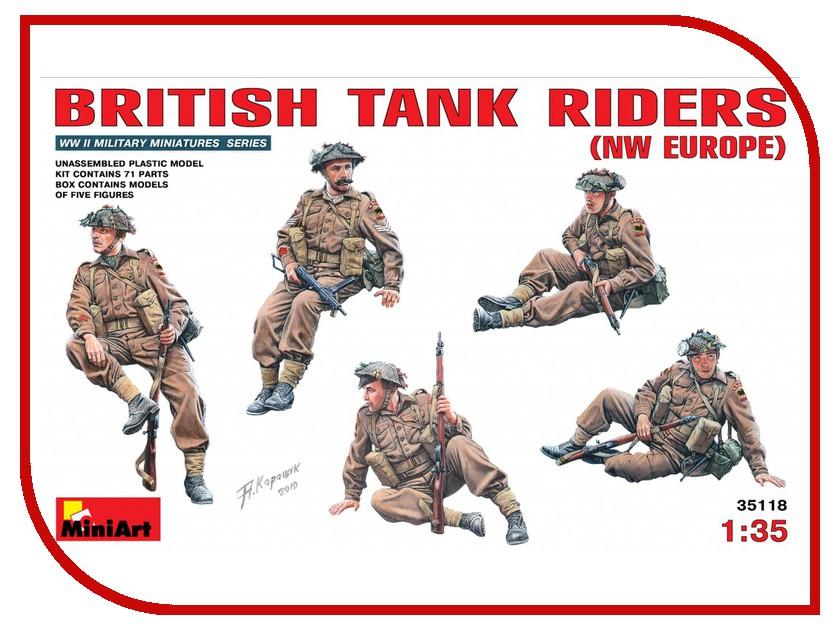 Сборная модель MiniArt Британский танковый десант Северо-западная Европа 35118М доставка продуктов европа липецк