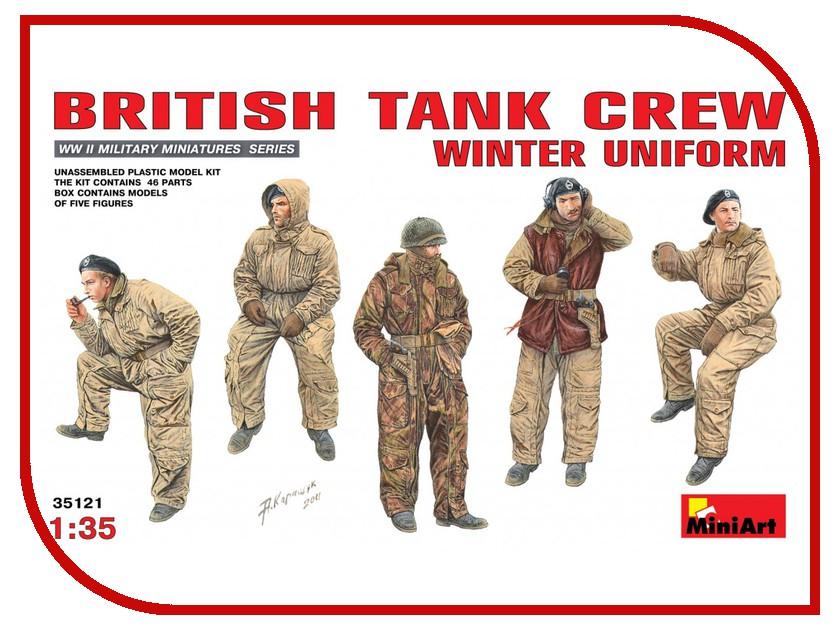 Фото Сборная модель MiniArt Британский танковый экипаж Зимняя униформа 35121М