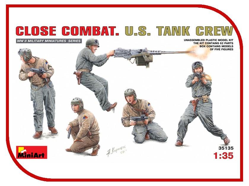 Сборная модель MiniArt Ближний бой Американский танковый экипаж 35135М экипаж