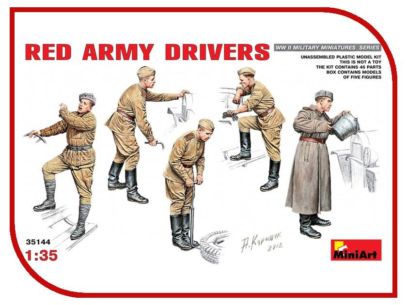 Сборная модель MiniArt Водители Красной Армии 35144М валентин рунов удар по украине вермахт против красной армии