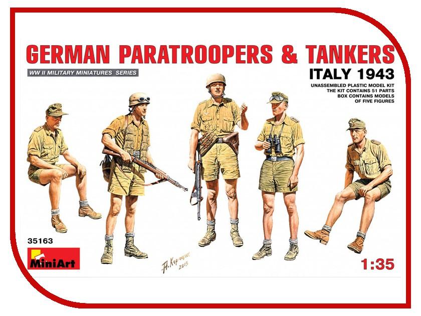 Сборная модель MiniArt Немецкие десантники и танкисты Италия 1943 35163М сборная модель zvezda немецкие танкисты 3614