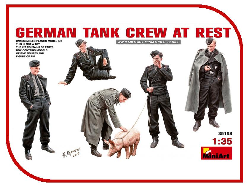 Сборная модель MiniArt Немецкий Танковый Экипаж на отдыхе 35198М экипаж