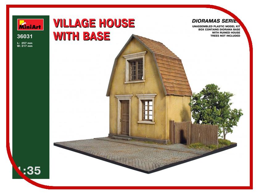 Сборная модель MiniArt Деревенский дом с основанием 36031М кровать с металлическим основанием