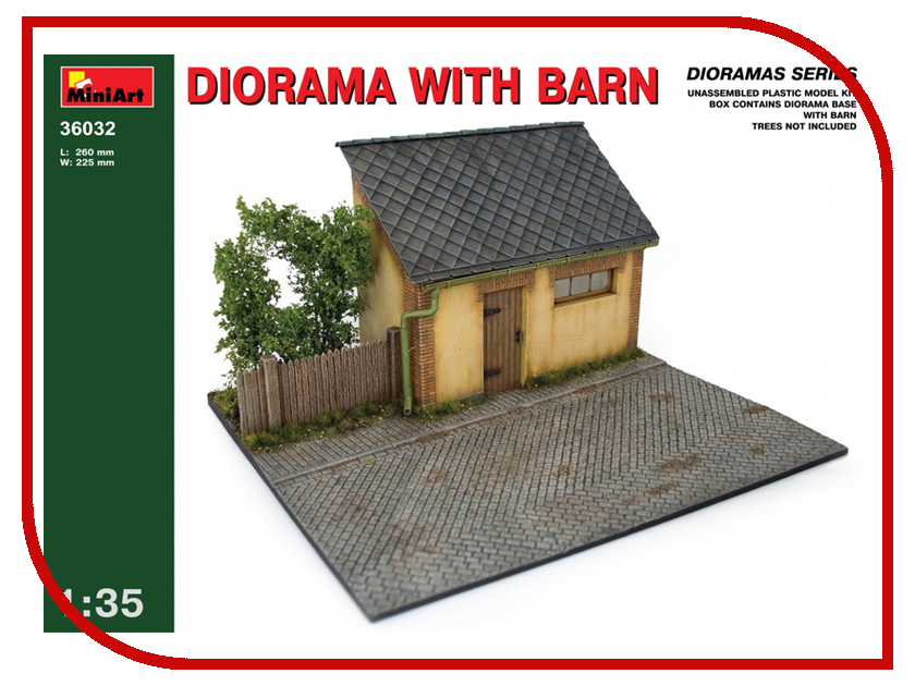 Сборная модель MiniArt Диорама с сараем 36032М