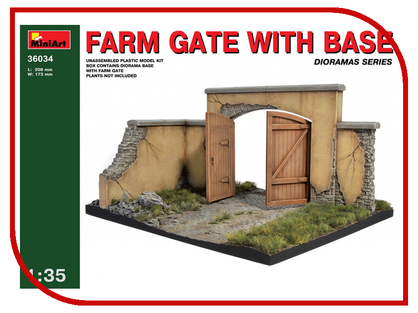 Сборная модель MiniArt Фермерские ворота с основанием 36034М кровать с металлическим основанием