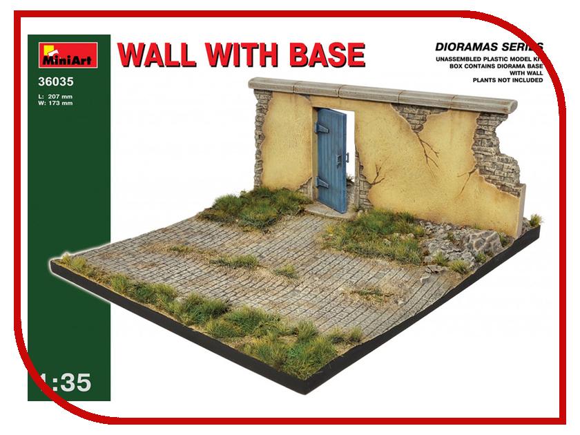 Сборная модель MiniArt Стена с основанием 36035М книга стена