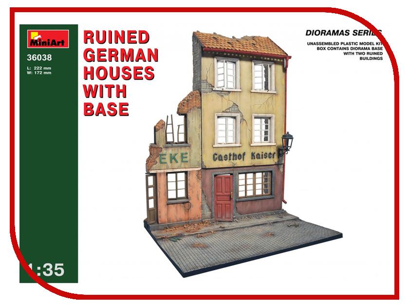 Сборная модель MiniArt Разрушенный немецкий дом с основанием 36038М