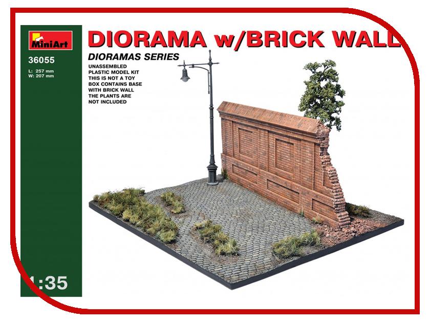 Сборная модель MiniArt Диорама с кирпичной стеной 36055М