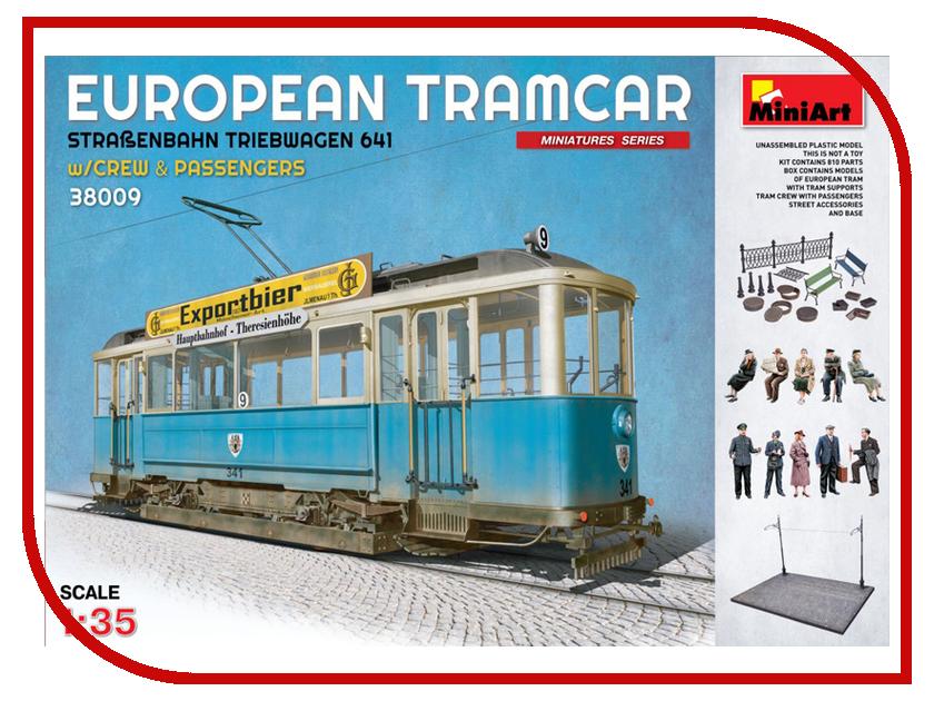 Сборная модель MiniArt Европейский трамвай с пассажирами и экипажем 38009М тимберленд европейский