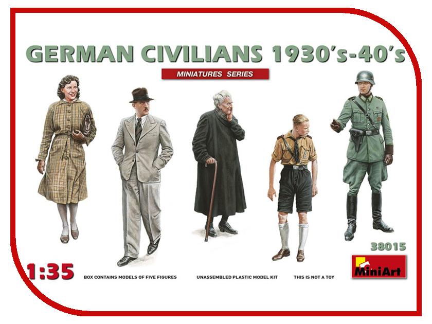Сборная модель MiniArt Немецкие Гражданские 1930-40гг 38015М немецкие карнизы где можно