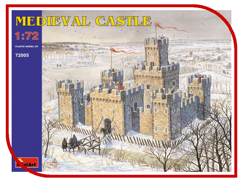 Сборная модель MiniArt Средневековый замок 72005М средневековый замок