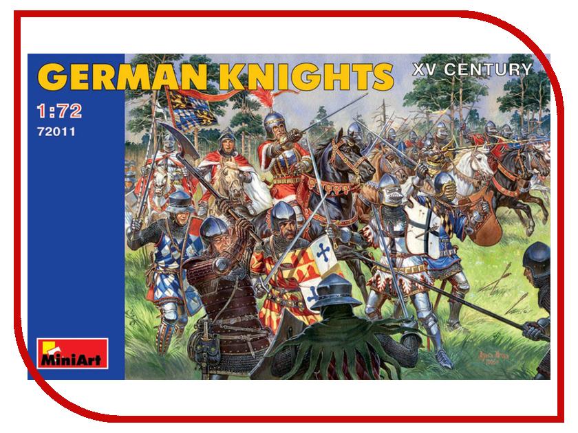 Сборная модель MiniArt Немецкие рыцари XV век 72011М немецкие карнизы где можно