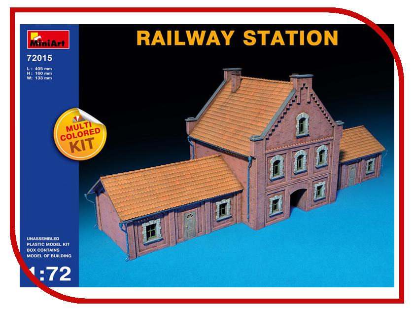 Сборная модель MiniArt Железнодорожный Вокзал 72015М конструктор железнодорожный вокзал