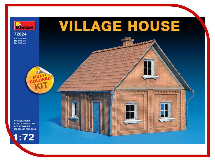 Сборная модель MiniArt Деревенский дом 72024М хочу деревенский дом около свирска иркутской области