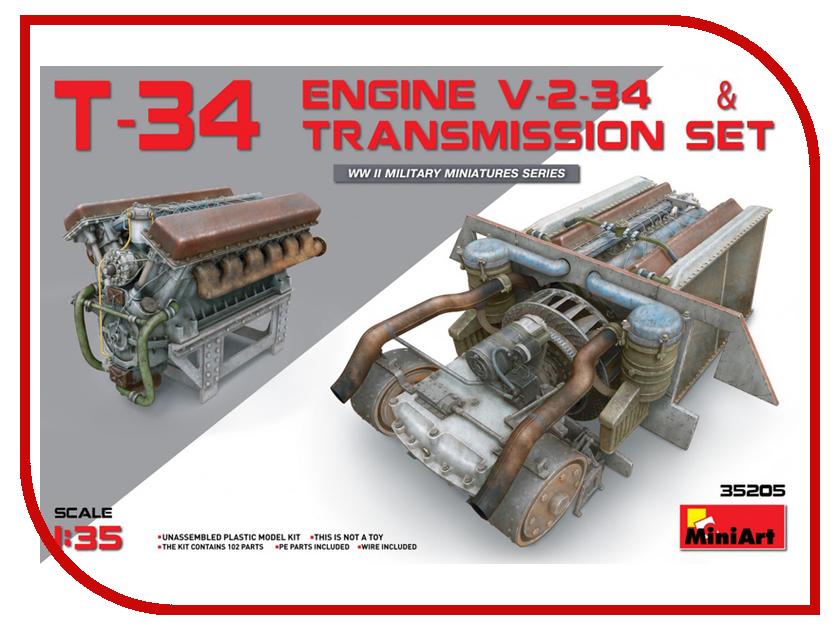 Сборная модель MiniArt Двигатель Т-34 Набор трансмиссий 35205М сборная модель miniart уличные аксессуары 35530м