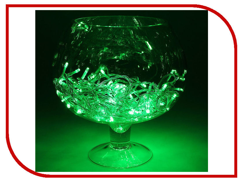Гирлянда Luazon Метраж LED-100-24В 10m Green 1586026 гирлянда luazon конский хвост капля росы 2 5m led 750 12v multicolor 1080622
