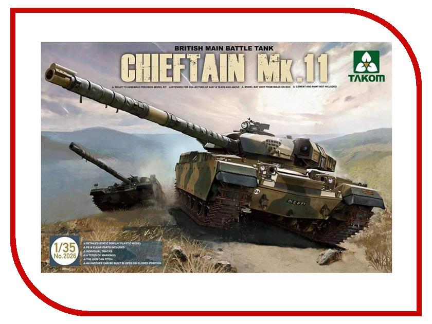 Сборная модель Takom Британский основной танк Chieftain Mk.11 2026 британский средний танк матильда ii 6171