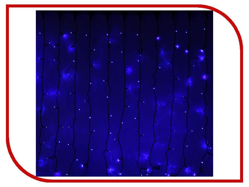Гирлянда Luazon Занавес LED-1800-220V 2m-9m Blue 1080314 гирлянда luazon спайдер led 600 24в 20m multicolor 1586037