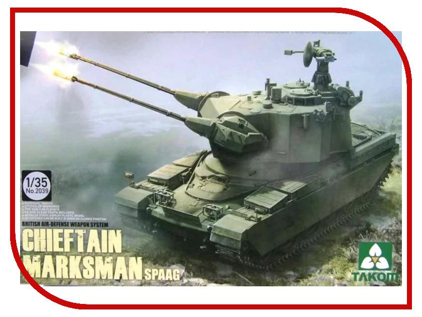 Сборная модель Takom Британская система пво Chieftain Marksman 2039 marksman набор marksman 866279