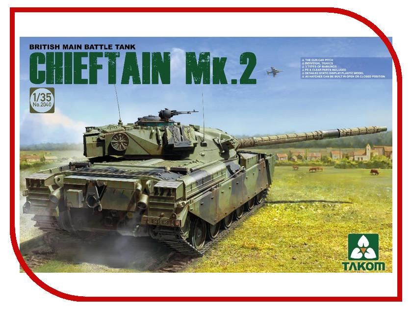 Сборная модель Takom Британский основной танк Chieftain Mk.2 2040 британский средний танк матильда ii 6171