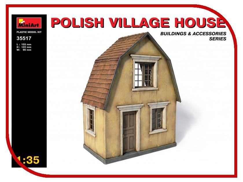 Сборная модель MiniArt Польский деревенский дом 35517М хочу деревенский дом около свирска иркутской области