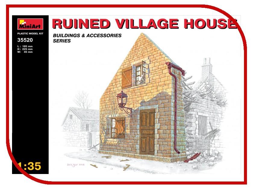 Сборная модель MiniArt Разрушенный деревенский дом 35520М хочу деревенский дом около свирска иркутской области
