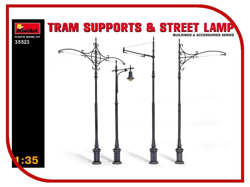 Сборная модель MiniArt Трамвайные опоры и уличные фонари 35523М сборная модель miniart уличные аксессуары 35530м