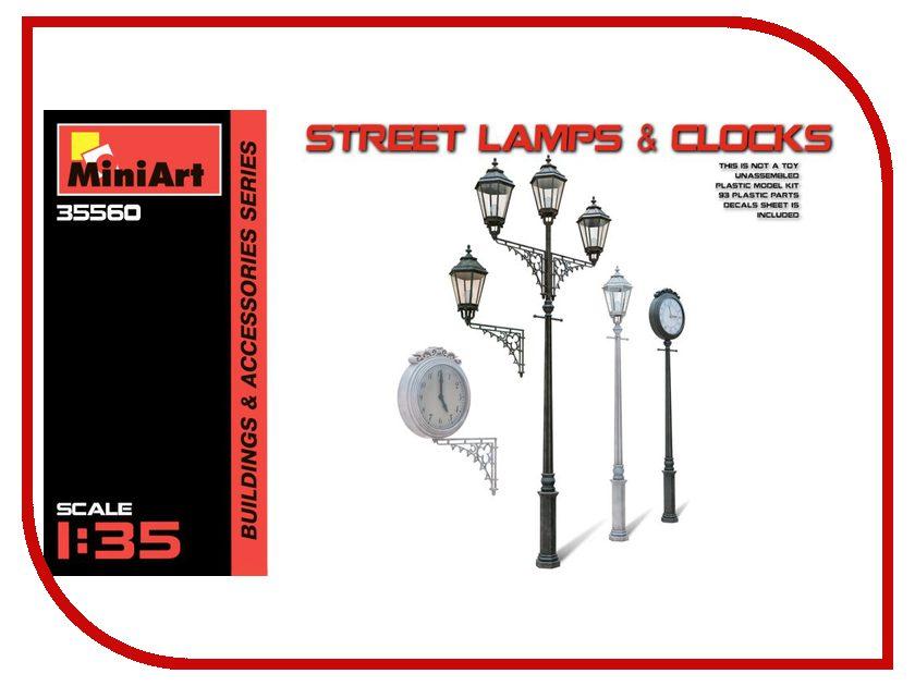 Сборная модель MiniArt Уличные Лампы и Часы 35560М сборная модель miniart уличные аксессуары 35530м