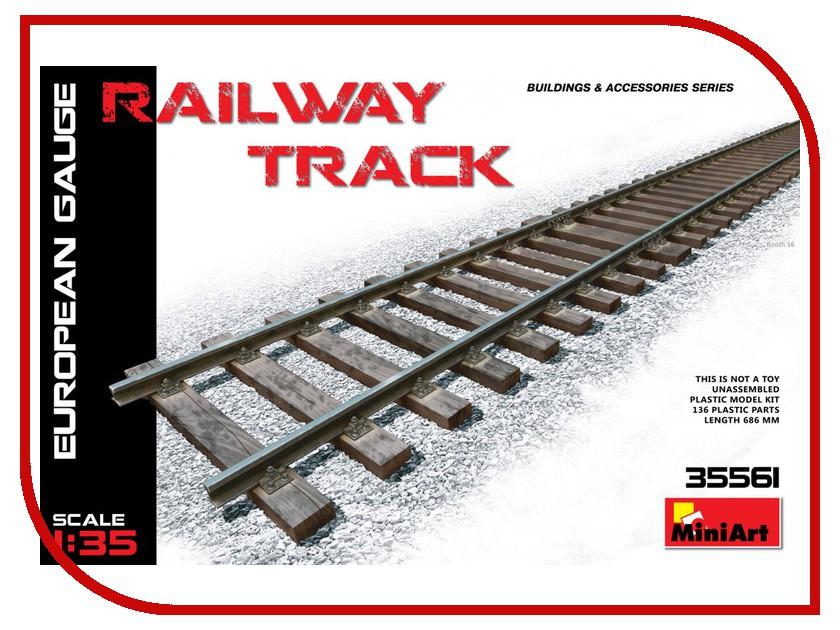 Сборная модель MiniArt Железнодорожные пути Европейский размер 35561М