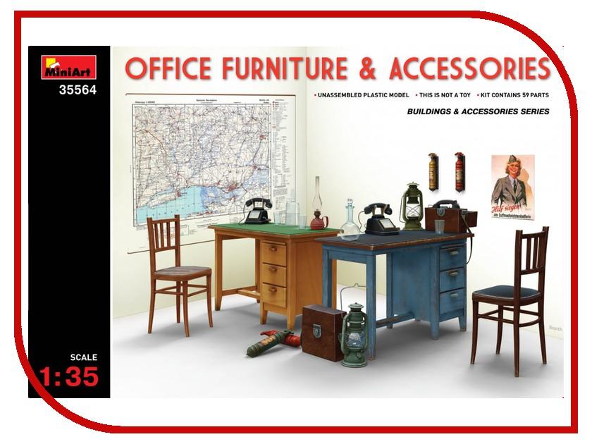 Сборная модель MiniArt Офисная мебель и Аксессуары 35564М сборная модель miniart уличные аксессуары 35530м