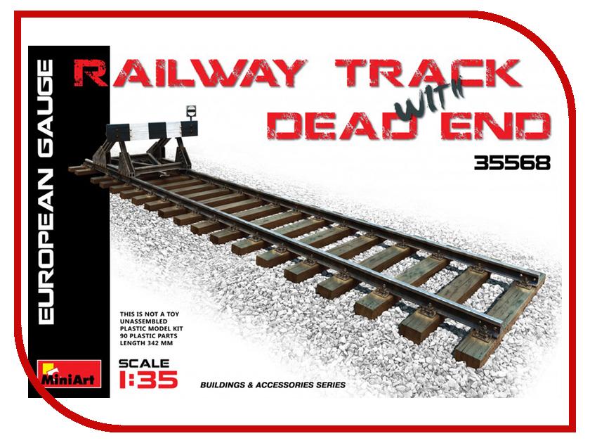 Сборная модель MiniArt Железнодорожніе пути и тупик Европейский размер 35568М тимберленд европейский