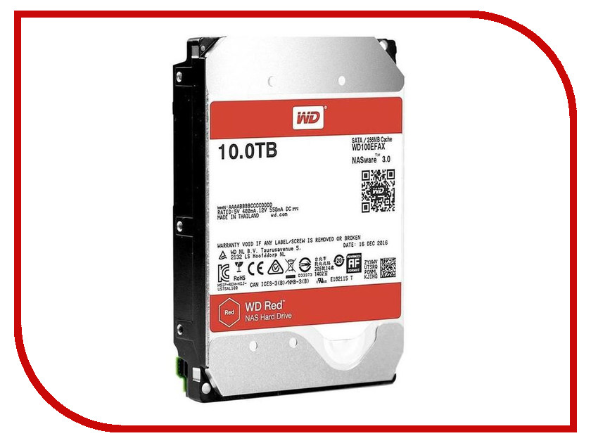 Жесткий диск 10Tb - Western Digital WD Red WD100EFAX lucky family digital sports watch red led time and date display