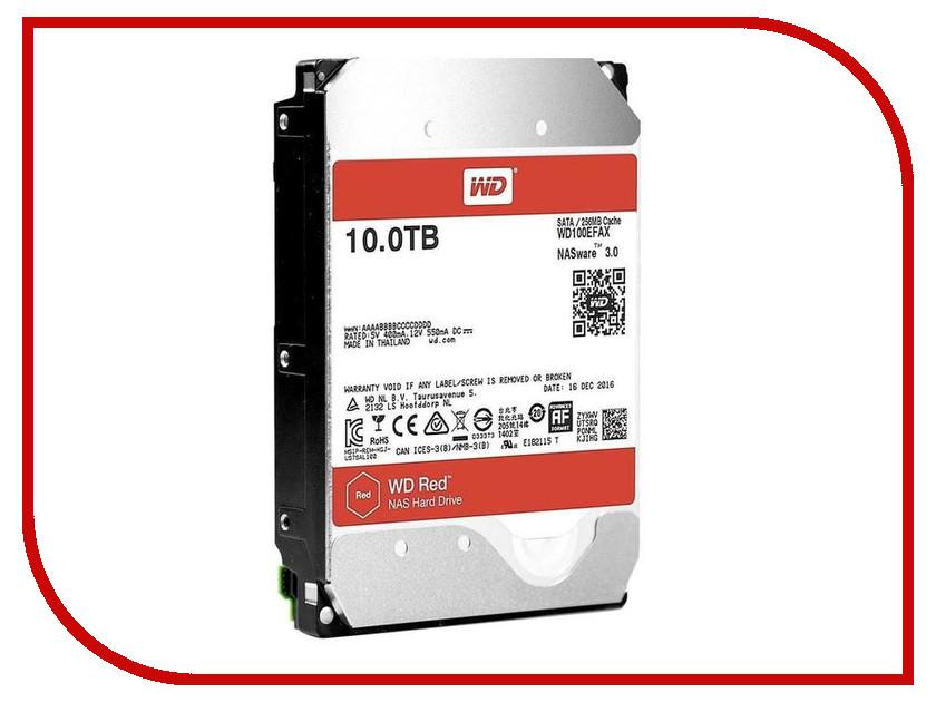 Жесткий диск 10Tb - Western Digital WD Red WD100EFAX жесткий диск sata 10tb 6gb s 256mb red wd100efax wdc