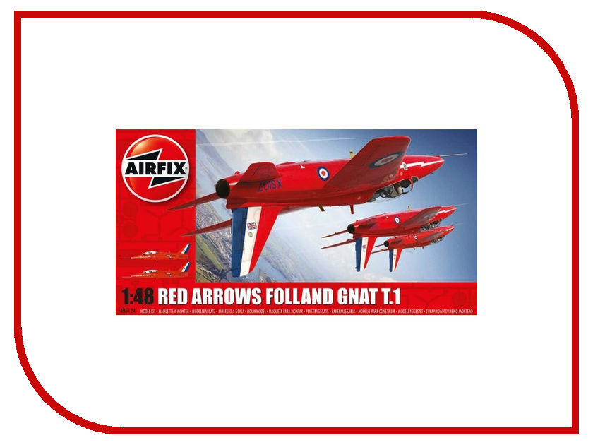 Сборная модель AIRFIX Folland Gnat Red Arrows A05124 сборная модель airfix me109e j6001