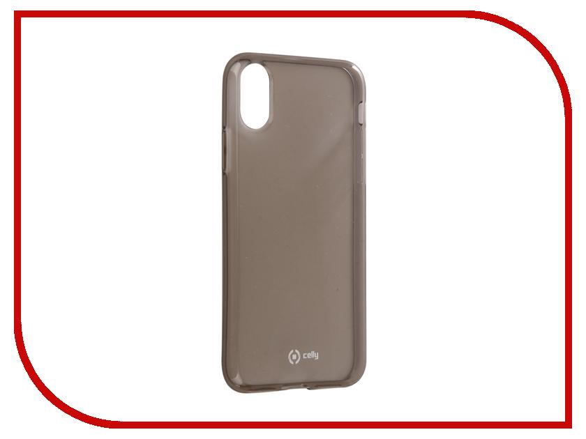 Аксессуар Чехол Celly Air Case для APPLE iPhone X Black AIR900BK аксессуар чехол celly air pelle для apple iphone 7 black airpelle800bk