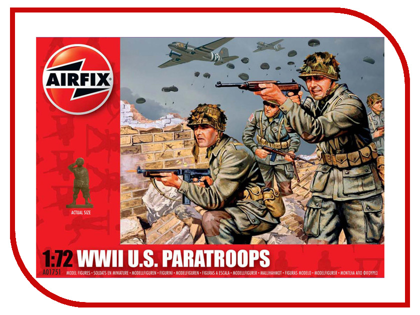 Сборная модель AIRFIX Американские парашютисты A01751 купить американские соусы